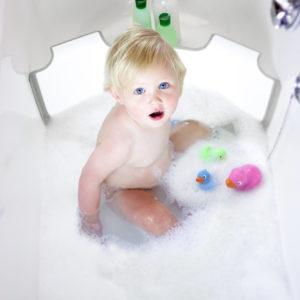 Διαχωριστής Μπανιέρας BabyDam, λευκό/γκρί