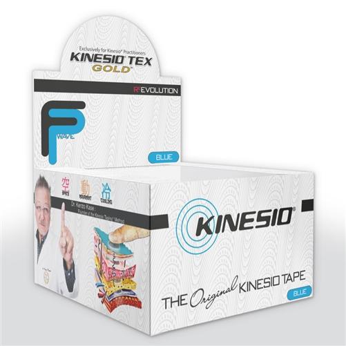Αυθεντική Ταινία Kinesio® Tape FingerPrint Gold, μπλε