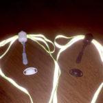 Κορδόνι Greeper--δεν λύνεται--Ανάκλασης, λευκό