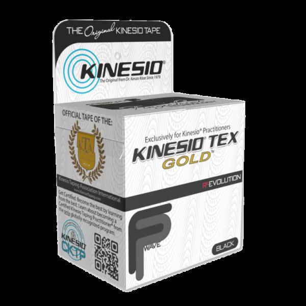 Αυθεντική Ταινία Kinesio® Tape FingerPrint Gold, μαύρη