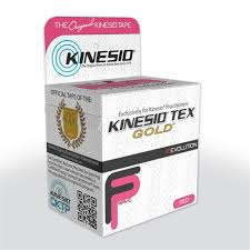 Αυθεντική Ταινία Kinesio® Tape FingerPrint Gold, ροζ
