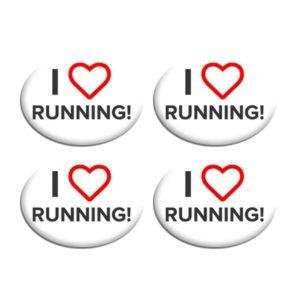 Σετ Συγκράτησης Αριθμού Αγώνα - I Love Running
