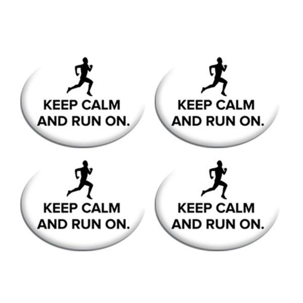 Σετ Συγκράτησης Αριθμού Αγώνα - Keep Calm and Run On