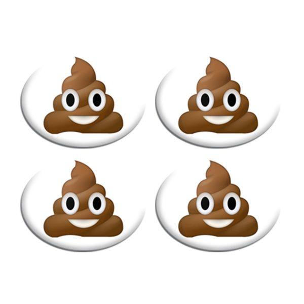 Σετ Συγκράτησης Αριθμού Αγώνα - Poop Emoji